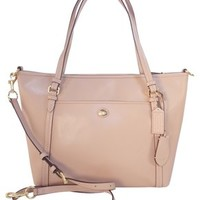 Coach Peyton Leather Pocket Nwt 25667 Leather Sand Beige Tote Bag 43% off retail