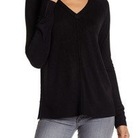 Sweet Romeo | Exposed Seam V-Neck Pullover Sweater | Nordstrom Rack