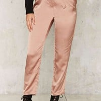 Glamorous Means to an End Satin Trousers