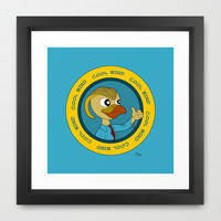 Cool cartoon bird giving thumbs up Framed Art Print by MaxiHarmony