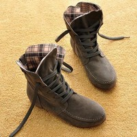 Autumn and Winter Boots Snow Boots for Women and Men Martin Boots Genuine Leather Boots Couples Shoes-2