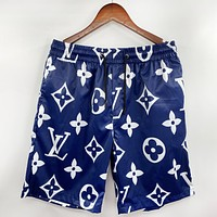 Onewel Louis Vuitton LV Blue Shorts Monogram Men Swimming pants