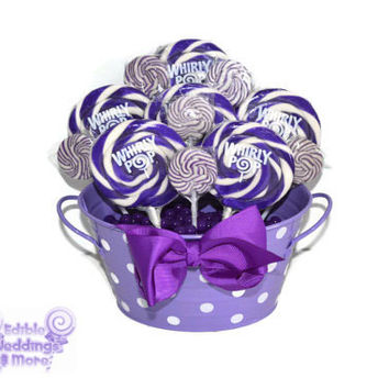 Purple lollipop arrangement, purple candy arrangement, purple candy buffet, purple, candy, lollipop, baby shower, its a girl, baby girl