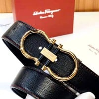 Ferragamo 2019 new classic horseshoe metal buckle belt