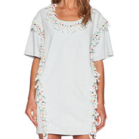 Love Moschino Embellished Tunic in Chambray