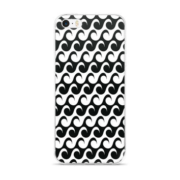 Black and white wave iPhone 5/5s/Se, 6/6s, 6/6s Plus Case