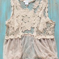 Western Crochet Vest With tulle | Elusive Cowgirl