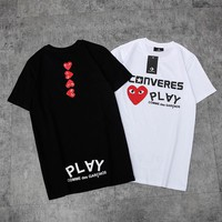Play x Converse Printed cotton short Tshirt M--XXL