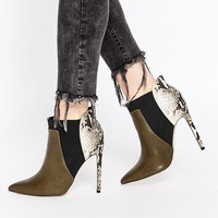 ASOS ENVIOUS OF YOU Pointed Chelsea Ankle Boots