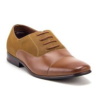 Men's 20617 Cap Toe Derby Oxfords Lace Up Casual Dress Shoes