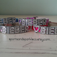 Personalized Bling Justin Bieber Rhinestone Bracelet with Heart Charm