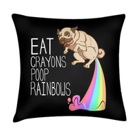 EAT CRAYONS PILLOW