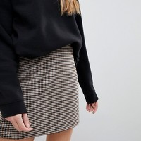 Monki Check Mini Skirt at asos.com