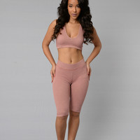 Bryant Crop Leggings - Blush