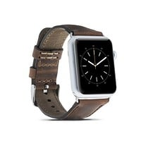 Leather Apple Watch Strap, Antic Brown