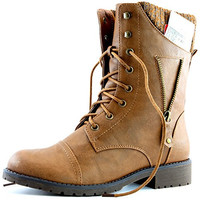 Womens Military Up Buckle Combat Boots