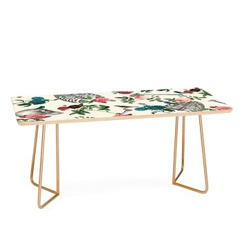 Belle13 Skulls Birds And Roses Coffee Table