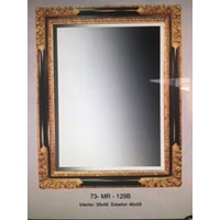 Large Mirror in Brown and black frame