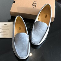UGG fashion new men's leather bun shoes breathable and comfortable casual leather shoes