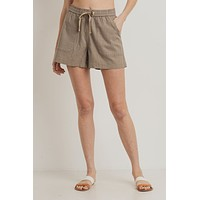 Letters To Juliet Linen Drawstring Shorts (Available in Sage and White)