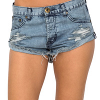One Teaspoon Bandits cut-off shorts in rocky