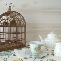 Rustic Wooden Bird Cage, Decorative Wooden Bird Cage,  Arched Wooden Hanging Bird Cage