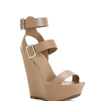 Sale- Natural Double Strap Wedges