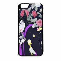 Malficient Disney Floral iPhone 6 Plus Case