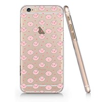 Cute Pig Quote Text Slim Iphone 6 6S Case, Text Clear Iphone 6 6S Hard Cover Case For Apple Iphone 6/6S -Emerishop (iphone 6)