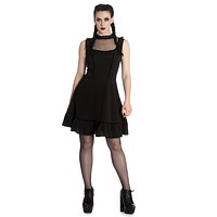 Gypsy Goth House of Black Witch Bellatrix Little Black dress Plus size