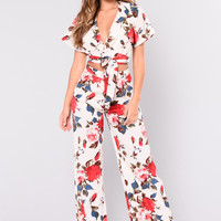 Rosey Posey Set - White/Red
