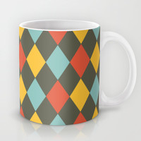 Grey Argyle Mug by Louise Machado