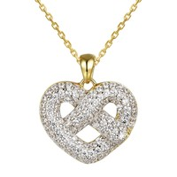Infinity Love Heart 14k Gold Finish small Pendant Gift Set