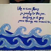 READY TO SHIP 8x10 Canvas (Elvis quote)