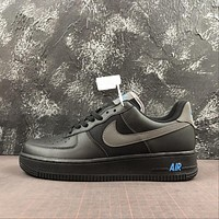 Nike Air Force 1 AF1 Low Black Light Blue Touches Shoes