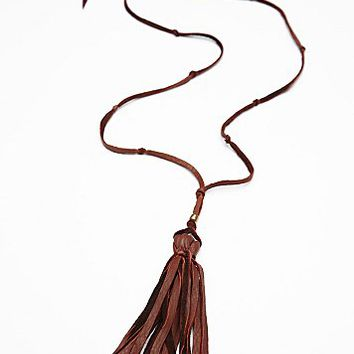 Hekoya Leather x FP Womens Leather Tassel Pendant