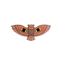 All Seeing Owl Enamel Lapel Pin