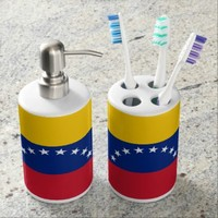 Venezuelan flag Bath Set