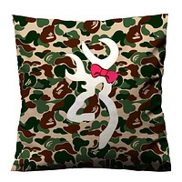 CAMO BROWNING DEER CUTE Cushion Case Cover