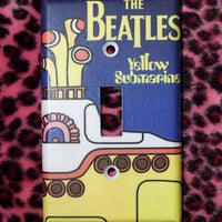 Beatles Submarine Light Switch Cover - Switchplate - Switch Plate Yellow Submarine