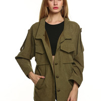 Army Green Fall Style Jacket