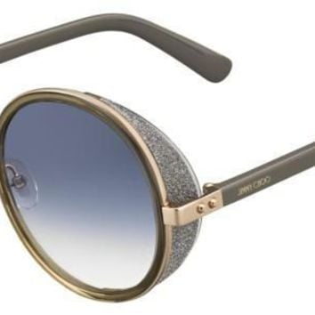 Jimmy Choo Andie S Gold Copper Sunglasses / Gray Gradient Lenses
