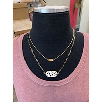 Willow Stacked Necklace- 2 Colors- Leopard & Cheetah