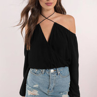 Twist and Shout Cold Shoulder Top