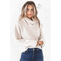 PISTOLA Hadley Turtleneck Sweater In Dove