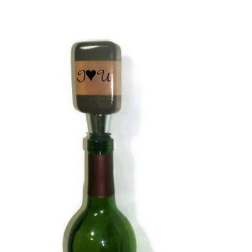 Personalized for Mom Wood Bottle Stopper  - Upcycled Wine Stopper