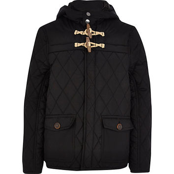 River Island Boys black quilted jacket