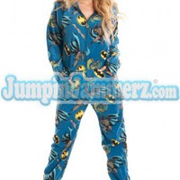 BATMAN 02 - Warner Bros. - Pajamas Footie PJs Onesuits One Piece Adult Pajamas