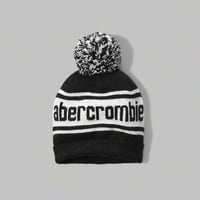 shine patterned pom-pom beanie