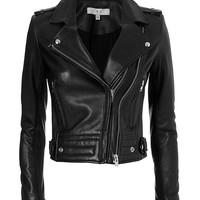 IRO EXCLUSIVE Luiga Moto Leather Jacket: Black | Extra 40% Off Select Styles | INTERMIX
